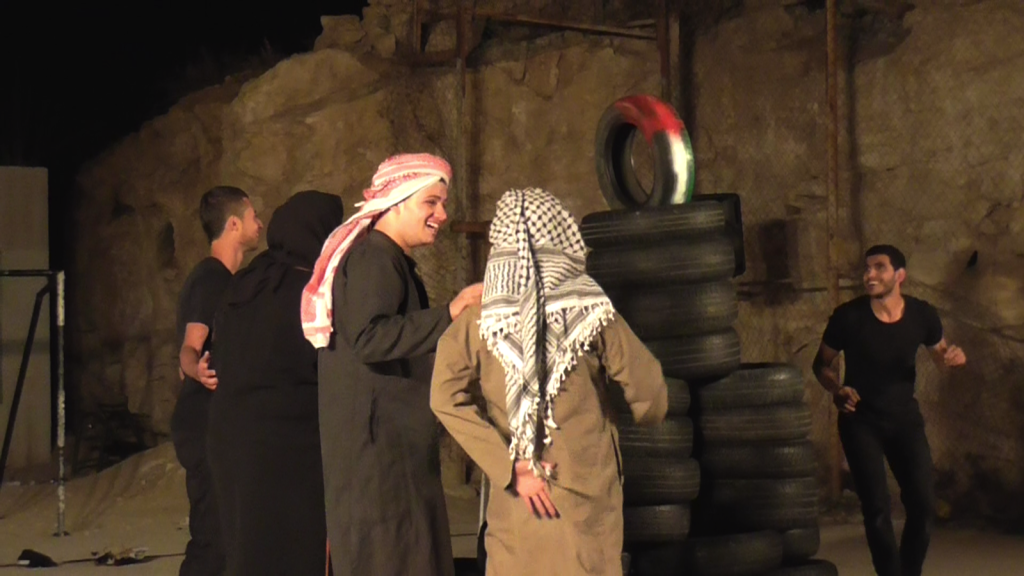 Playing the role of Al Mufaqarah inhabitants and South Hebron Hills children during the summer camp