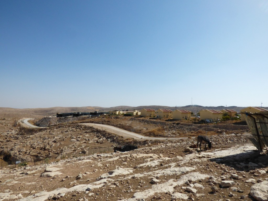 Ongoing expansion works in Karmel Israeli settlement.