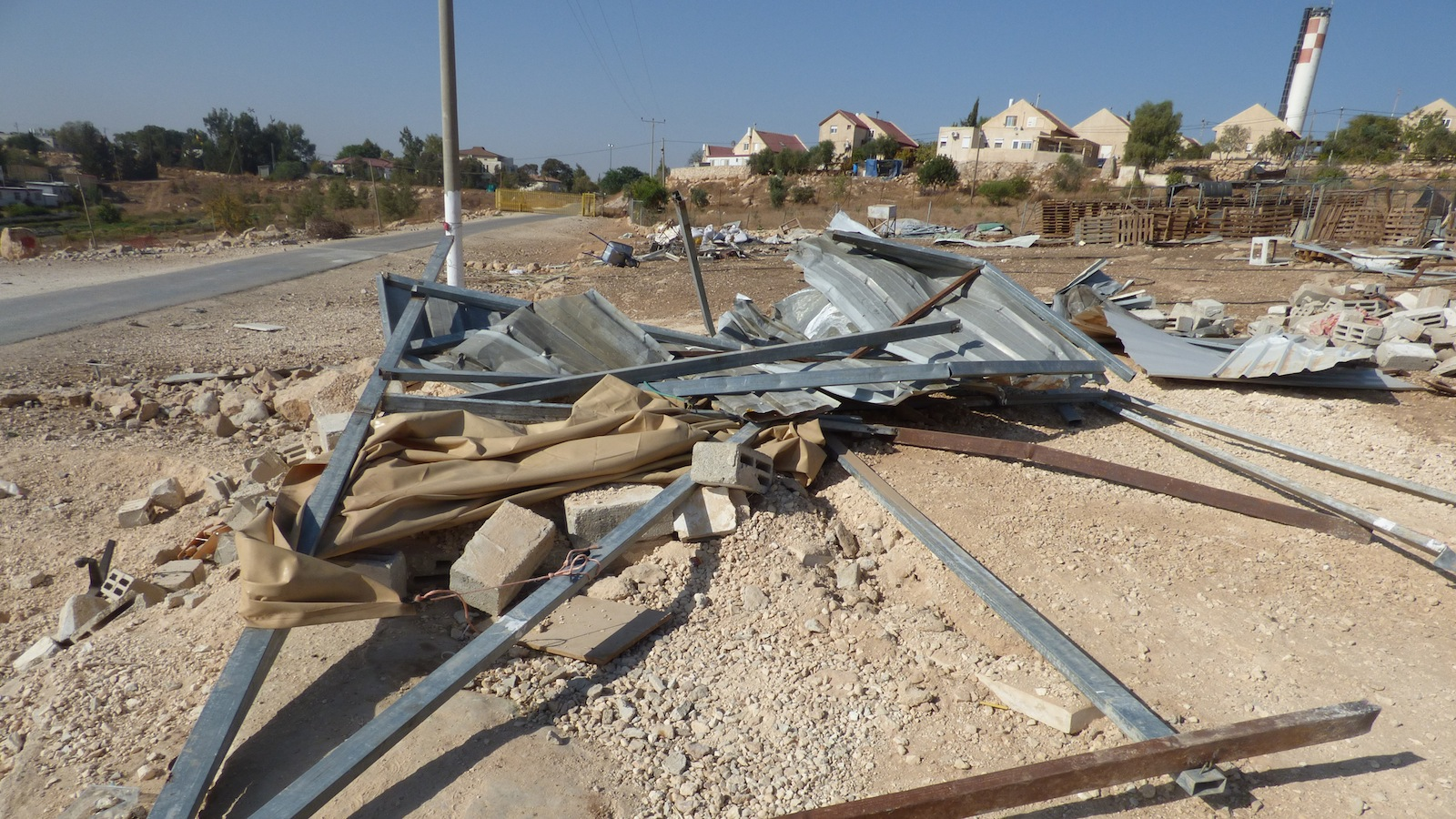 Residential structure destroyed by Israeli Civil Administration DCO in Umm Al-Kheir