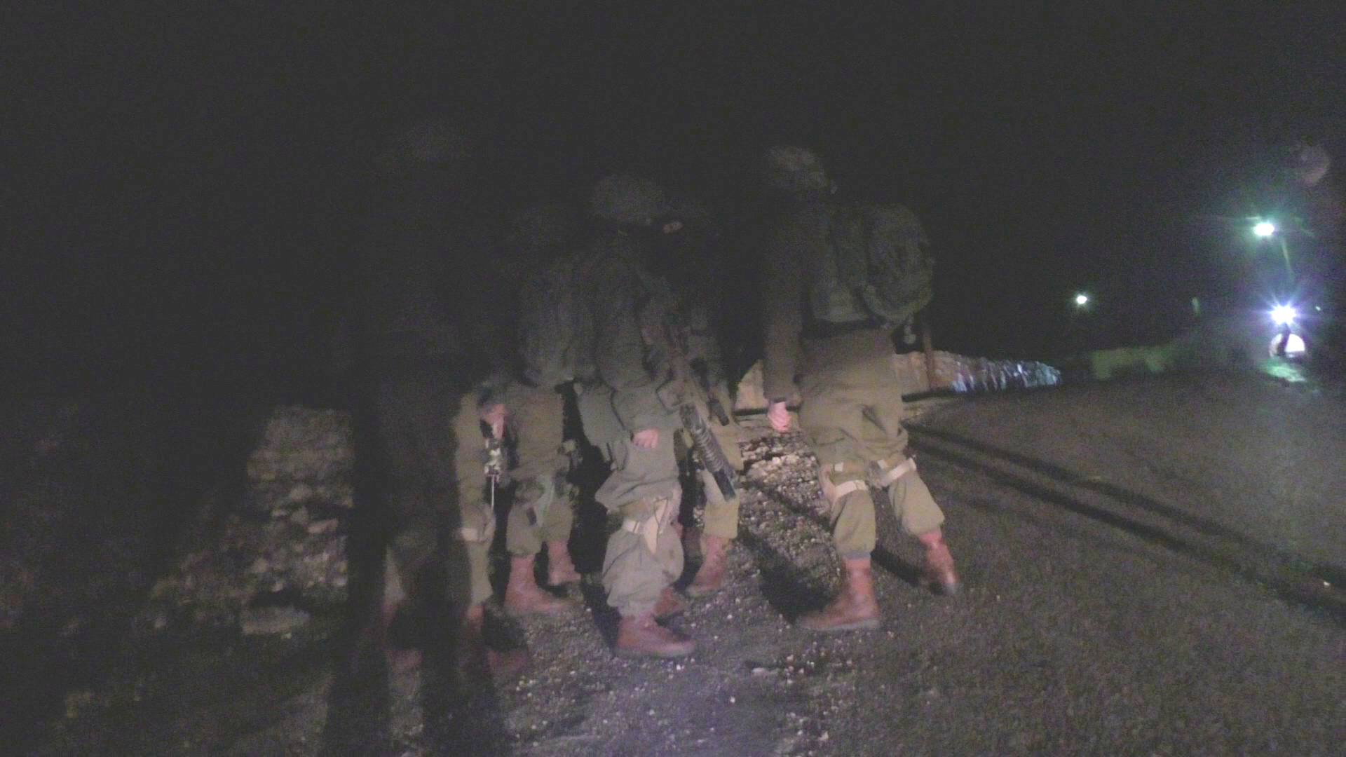 Israeli soldiers in At Tuwani village, South Hebron Hills